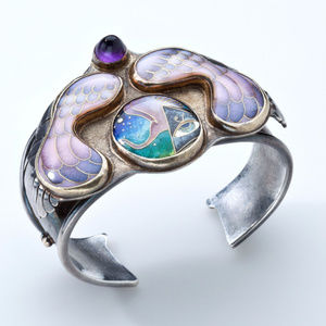 Collette Denton Jewelry - Colette Denton Sterling Cloisonne Enamel Bracelet